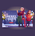 women in sweaters celebrate christmas vector image