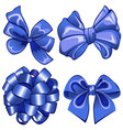 set with blue bows vector image
