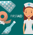 nurse first aid supplies elements vector image
