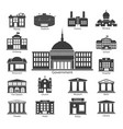 building icons set government buildings vector image
