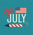 united stated independence day poster vector image