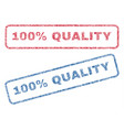 100 percent quality textile stamps vector image vector image
