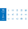15 loud icons vector image vector image