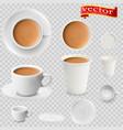 3d realistic cocoa drink coffee vector image vector image