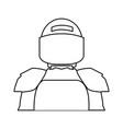 american footbal shoulder pads helmet uniform vector image vector image