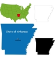Arkansas map vector image