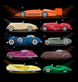 art deco car retro luxury auto transport vector image
