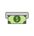 atm cash flat line icon vector image