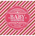 Baby Shower Emblem vector image vector image
