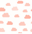 bagirl pink clouds pattern background baby vector image vector image