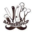 barbershop and hairdresser design vector image vector image