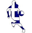 basketball colors of Greece vector image