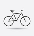 bike silhouette icon on white background bicycle vector image vector image