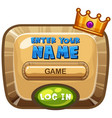 board template for computer game with crown vector image