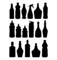 bottle silhouettes babottle spray vector image