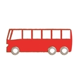 bus vehicle isolated icon vector image vector image