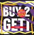 buy 2 get 1 free hottest deal promotion sale vector image vector image