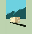 camping in mountains vector image