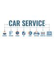 car service banner vector image