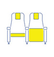 cinema seats icon vector image vector image