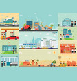 city life info graphics with industrial area vector image vector image