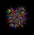 color blast explosion vector image