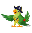 cute parrot cartoon for you design vector image vector image