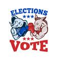 Democrat Donkey Republican Elephant Mascot vector image vector image