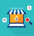 e commerce business concept online store vector image