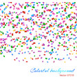 falling confetti pattern vector image vector image