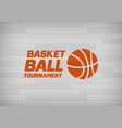 flyer or web banner design with basketball ball vector image
