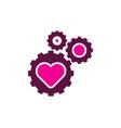 gear love logo icon design vector image