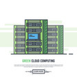 green cloud servers vector image
