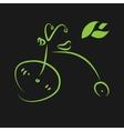 Green eco bike vector image vector image