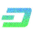 halftone blue-green dash currency icon vector image vector image