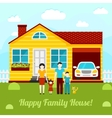 Happy family house concept - couple vector image vector image
