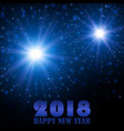 happy new year 2018 holiday fireworks vector image vector image