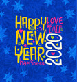 happy new year 2020 design inspiring handwriting vector image