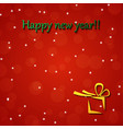 happy new year gold and black collors place for vector image vector image