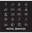 hotel services editable line icons set on vector image vector image