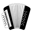 isolated accordion icon musical instrument vector image vector image