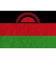 Malawi paper flag vector image