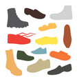 male man season shoes in flat style men boots vector image vector image