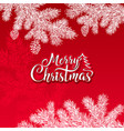 merry christmas text on a red background vector image vector image