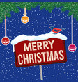 merry christmas vintage rusty metal sign on vector image vector image