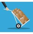 Metallic hand truck vector image vector image