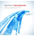 moving blue abstract background vector image vector image