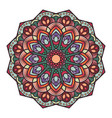 multicolor mandala design with intricate pattern vector image vector image