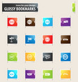 new stiker and label bookmark icons vector image vector image