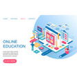 online education training courses internet vector image
